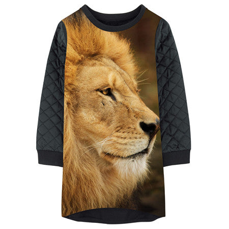 Children Designer girls winter grid Dresses Fashion best lion Print baby Clothes gril   Kids Long sleeve Girl clothing