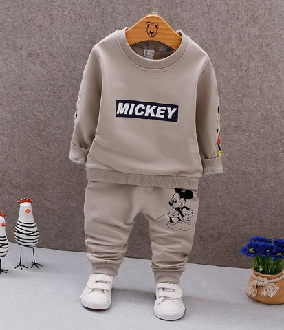 Children's we 2018 Autumn baby girl boys sports leisure suit Mickey T-shirt + pants two sets Children's clothes 1-5years