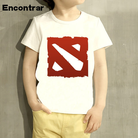 Childrens Game Dota 2 IT5 Natus Vincere Design Baby Boys/Girl T Shirt Kids Funny Short Sleeve Tops Children Cute T-Shirt,HKP2240