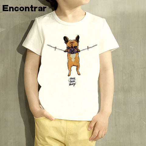 Childrens Hang in there Baby Design Baby Boys/Girl T Shirt Kids Funny Short Sleeve Tops Children Cute T-Shirt,HKP2075