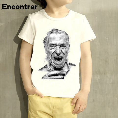 Childrens The Charles Bukowski Design Baby Boys/Girl T Shirt Kids Funny Short Sleeve Tops Children Cute T-Shirt,HKP448