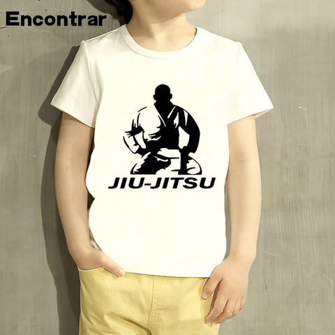 Childrens jiu jitsu Brand Design Baby Boys/Girl T Shirt Kids Funny Short Sleeve Tops Children Cute T-Shirt,HKP338
