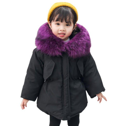 dfbba054c Christmas Baby Toddler Girl Winter Co Cotton-padded Parka 2018 ...