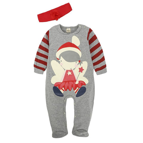 Christmas Newborn Baby Girl Boy Clothes Children's Winter Footies Cartoon Party Cosplay Fall New Cute Costume Warm Soft Clothing
