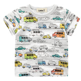 Clearance Baby Boy Cotton Shirts Cartoon Colorful C Children Summer Short Sleeve T-Shirt Boy Girls Tops Tees Kids Clothes 2-7Y