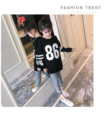 Clothes Set For Girls Teenagers Autumn 2018 Scho Letter T Shirt + Leggings 2pcs Kids Clothing 4 5 6 7 8 9 10 11 12 13 Years