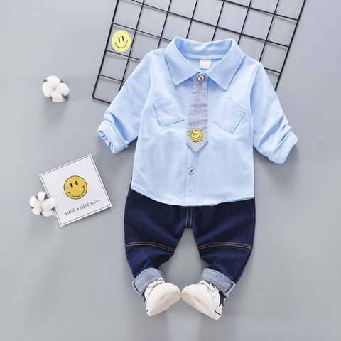 Clothing Set Spring New Boys Shirt Tie Three Piece Set Kids We Children Kid Clothes Suits Formal Wedding Party Costume