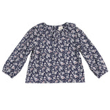 Cute Girls Blouse Baby Girls Solid Tops Flower Collar Puff Sleeve Blouse Baby Girl Clothes 2018 New