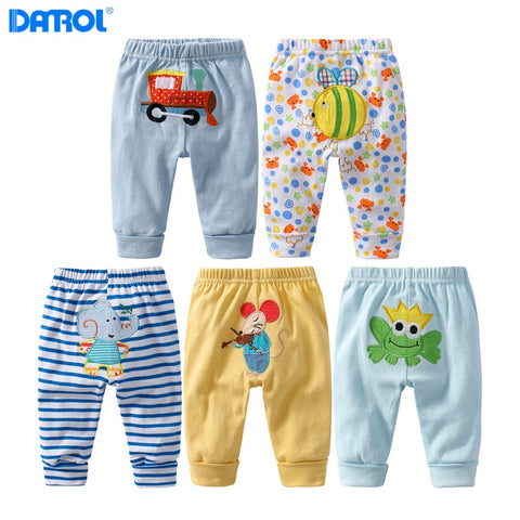 baby boy girls cotton PP pants kids trousers 5 pieces/lot kids soft cartoon trousers leggings