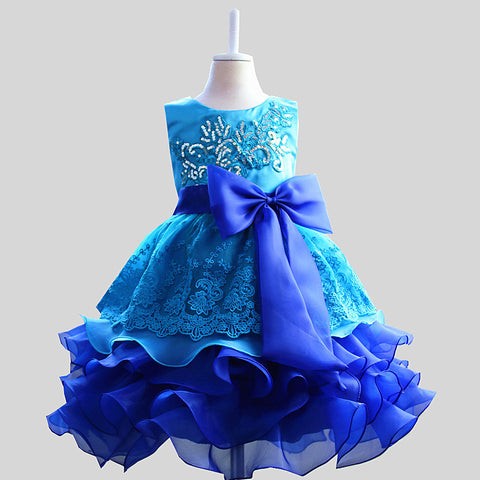 d1427811d Designer Clothes China Baby Girl Dresses Party and Wedding Sleeveless Tulle  Flower Girl Dress Gown for Kids Purple Blue Red
