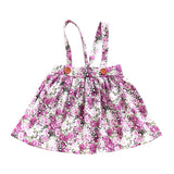 Dress For Girls Baby Clothes Wild Strap Printed Flower Bow Detachable Strap Button Baby Girl Clothes Baby Girl Dress
