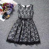 Dresses Children Baby Kids Girls Clothes Lace Hollow Out Sleeveless Co Princess Summer Dress Clothes Kid 4 5 6 7 8 Years New