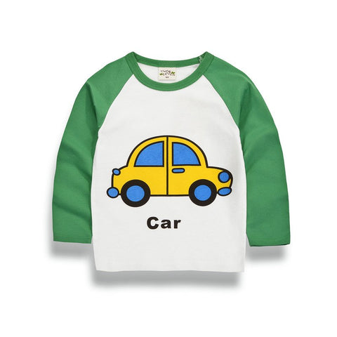 Spring Autumn Long Sleeve T-shirt For Girls Boys 2017 New C Print Shirts Children Tops Children's T Baby Clothing Tees