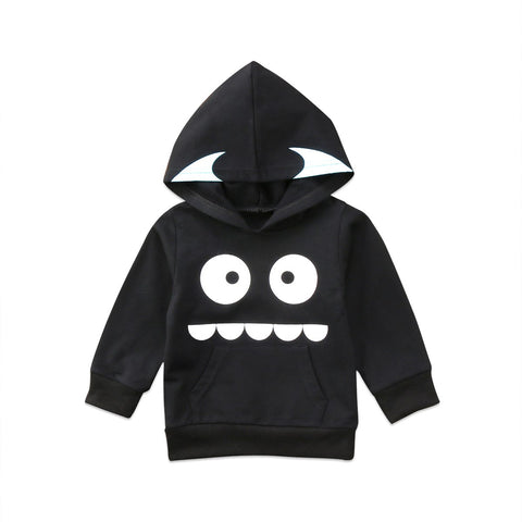 Cute Kids Baby Boy Girls Long Sleeve Big Eyes Tops Sweatshirt Hoodies Cotton Clothes
