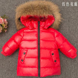 Shiny Co Winter Kids Real Large Raccoon Fur Coll Duck Down Jacket 2018 Baby Boy Girl Thicken Snow Down Parkas
