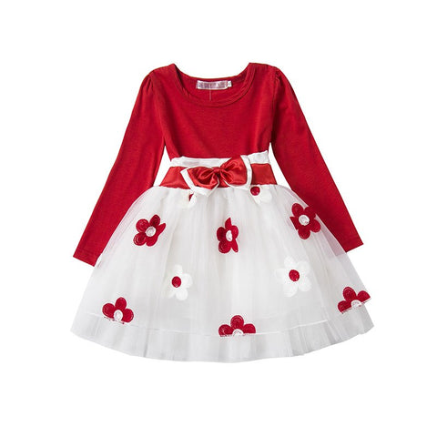 Fancy Infant Baby Girls Dresses Frock Designs Newborn 1 Year Birthday Party Dress Flowers Christening Gown Toddler Baby Outfits