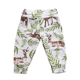 Fashion Cartoon Deer Pants Toddler Infant Baby Boys Girls Bottom Trousers Pants