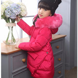 Fashion Children Down Jacket Russia Winter Jacket For Girls Thick Duck Down Kids Outerwears For Cold -30 degree Jacket Warm Coat