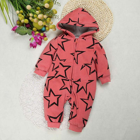d540203c350 Fashion Design winter newborn baby rompers One piece jumpsuits clothes  Cotton thickened boys girls soft warm 3-18Months infant