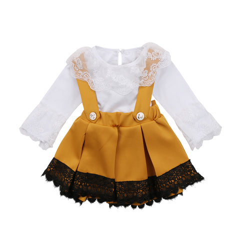 Fashion Kid Baby Girls Lace Romper Party Bowknot Dresses Outfits Set Summer Clothes Infant Baby Girl Floral Clothes 0-24M