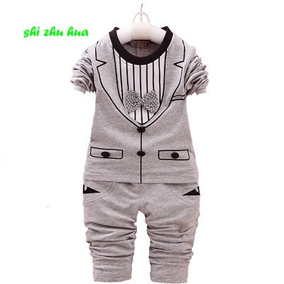 Fashion children's clothing sets gentleman baby clothing birthday party dress 1-4years old boy girls high-quality clothing suits