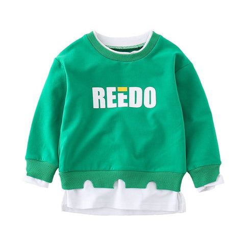 Fashion spring and autumn alphabet solid color style long sleeve infant T-shirt MD170MQ035