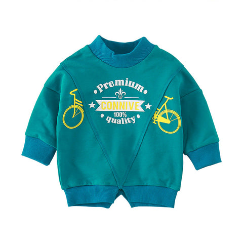 Fashion spring and autumn cartoon style long sleeve infant T-shirt MD170MQ010
