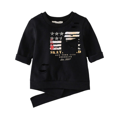 Fashion spring and autumn pure color personality long sleeve infant T-shirt MD170MQ006