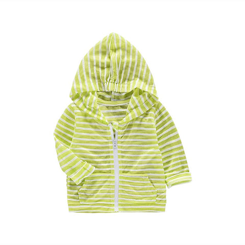 Fashion summer striped solid color sun protection infant coats MD160X008