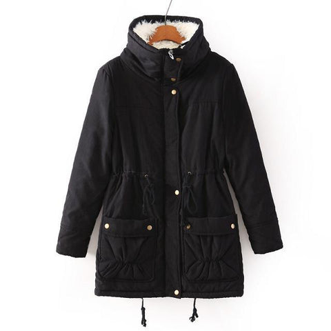 Fur Fleece Winter Jackets Children Thick Cotton Padded Teenager Girls Outwe Co Casual Turn-down Coll Kids Long Warm Parka