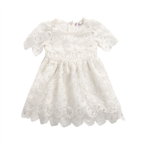 Girl Floral Party Wedding Cute Flower Princess Dresses Infant Toddler Baby Girls Clothing Lace Dress 0-24M