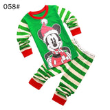 Girls Boys Father Christmas Santa Claus Clothing Set Long Sleeve hoody Pants two pieces winter casual Size for 2,3,4,5,6,7 years