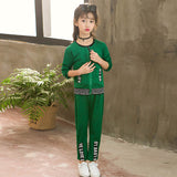 Girls Clothes Autumn Cotton Children Clothing Set long Sleeve Jackets Pants Girls Sport Suit Baby Kids Tracksuit 7 8 9 10 Years