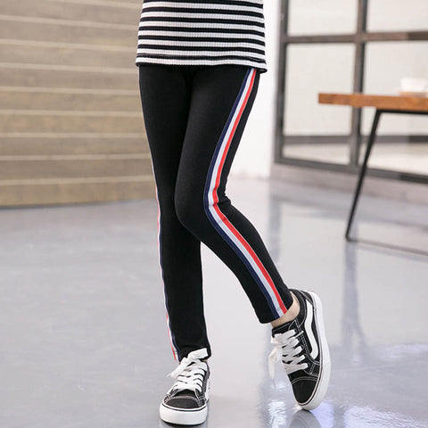 Girls Sports Pants 2018 Cotton Pure Color Pencil Pant New Fashion Baby Skinny Trousers Children Girl Leggings White Pants 3-11Y