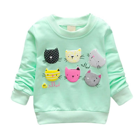 Girls Sweatshirts Children Hot Pink Top Girls T Shirts Print Cartoon C Sweatshirts Spring Kids Girl Pullover Kids Girls Cloth