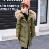 Girls White Duck Down Jacket Winter Clothes Kids Warm Down Parkas For Girls Snow We Little Girl Thick Hooded Co 5-12 Year