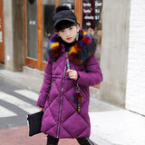 Girls Winter Coats Fur Coll Fashion Clothes 2018 Kids Cotton Padded Jackets For Teenage Girl Thick Warm Parkas Co 3-12 Years