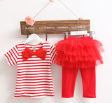 Girls clothing sets baby girl clothes Kids set summer we Short sleeve set Children clothing suit t shirt+pants