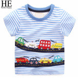 Boys T-shirts Toddler Boy Short Sleeve Tops	Summer Stripe Print C Tees Kids Boys Clothes funny t shirt Children