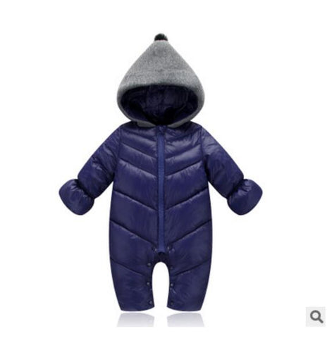 Baby Winter Clothes Girl Romper Warm jumpsuit baby overalls Long Sleeve Hooded Outerwear Snowsuit baby boy winter overalls