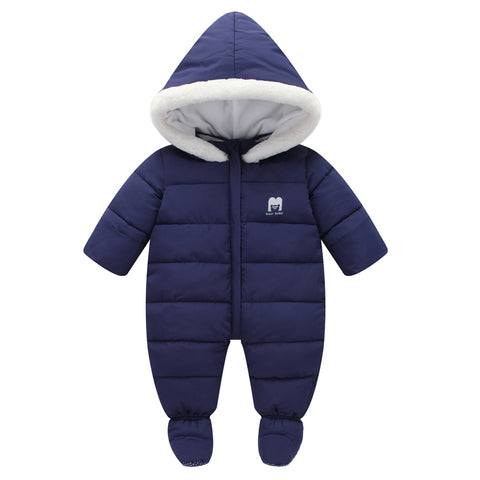 2018 Winter Infant Rompers Baby Girls Boys Jumpsuits Thickening Windproof Newborn Clothing Babies Rompers