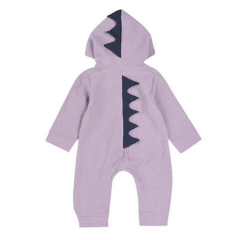 Halloween Costume Cartoon Dinosaur Design Hooded Baby Rompers Newborn Clothing Cotton Long Sleeve Jumpsuits Boys Girls Outerwear