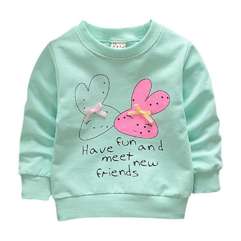 Hot Sale Baby Winter Warm Baby Girl Cute Shirts Hoodies Cotton Long Sleeve Autumn Casual Baby Cloths