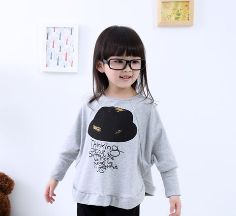 Hot Sale Fashion Girls B Sleeve Shirt Sweatshirts Cotton Kids Loose Hoodies Clothes Baby Toddler New Arriavl Children Clothing