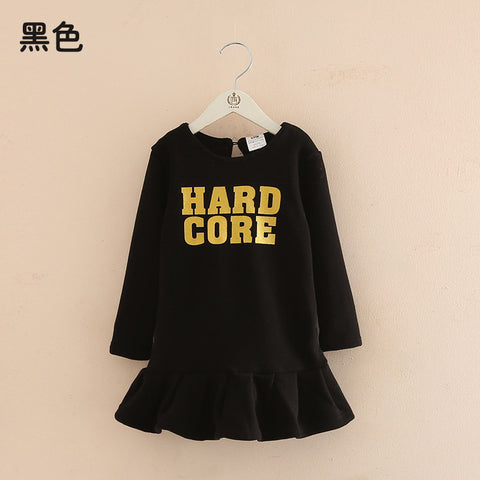 Hot Sales Casual Boys Girls Sweatshirt Letter Print Sweatshirt Kids Children Thick Warm Bottoming Long Sweatshirts For Children