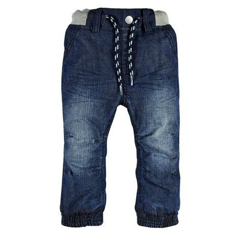 Infant Baby Boys&Girls Double Layers Jeans Newborn Bebe Denim Harem Pants Jersey Layer Elastic Waist Kids Children Trousers Warm