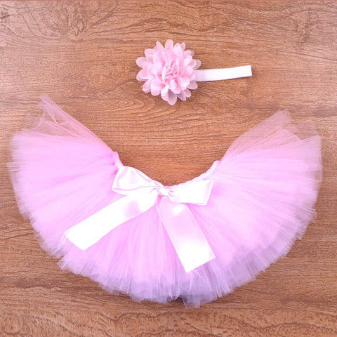 Infant Newborn Baby Girl Clothes Girls Flower Headband Mesh Ball Gown Tutu Skirts Photography Prop Baby Clothing Set CX986703