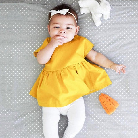 d8c298887 Infant Toddler Baby Girls Princess Pageant Party Dress Newborn Kids Summer  Clothes 0-24M New Arrival