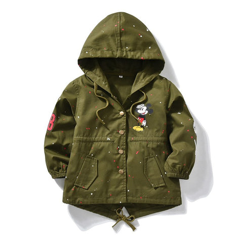 Jackets Children Spring Autumn Girls Co Kids Warm Outerwe Fleece Hooded Co Boy Outdoor Windbreaker Jacket Thin&Thicken