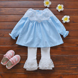 Cotton Baby Girl Clothing Full Mesh Tutu Toddler Dress Lace White Leggings for Baby Girls 2018 Kids Girls Clothes Set